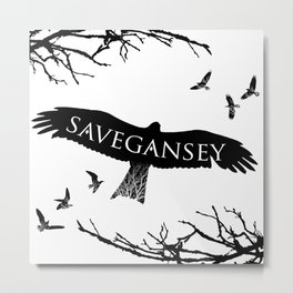 Save Gansey Metal Print