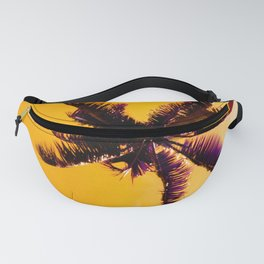 Palm Trees In Pineapple Gold Sunrise Tropical Sky Fanny Pack