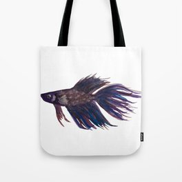 Original Betta Fish Watercolor Tote Bag