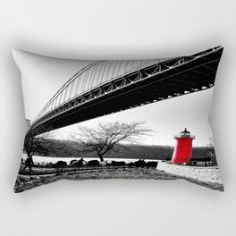 The Little Red Lighthouse - George Washington Bridge NYC Rectangular Pillow