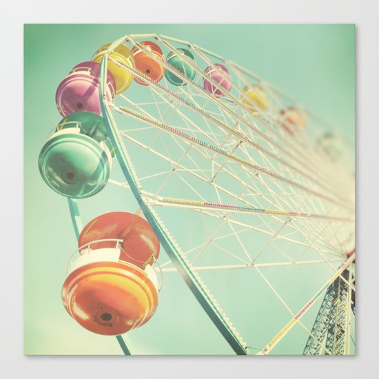 Rainbow Wheel Canvas Print