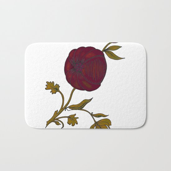 simple decorative pomegranate Bath Mat