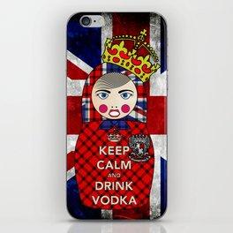 Keep Calm and Drink Vodka Matryoshka iPhone Skin