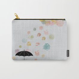 Colorful snow in Winter Carry-All Pouch