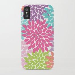 Colorful Floral Flower Petals iPhone Case