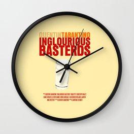Inglourious Basterds Movie Poster Wall Clock