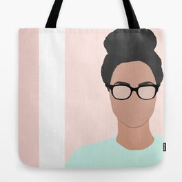 Chanelle wears glasses Tote Bag