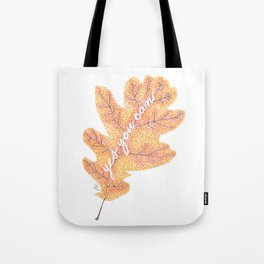 Yes You Can Pointillism Oak Leaf Painting Tote Bag