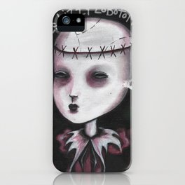 Spleen Sister - Lizzy Lobotomy by Macabre iPhone Case