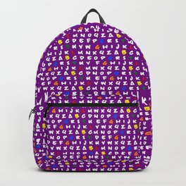 Abc's purple! Backpack