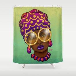 Gold Specs Shower Curtain