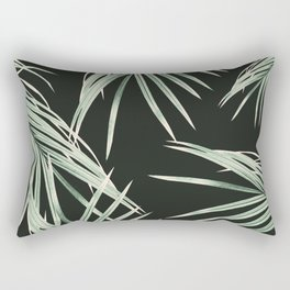 Green Palm Leaves Dream #1 #tropical #decor #art #society6 Rectangular Pillow