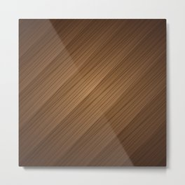 Slanted Texture On Wood Metal Print