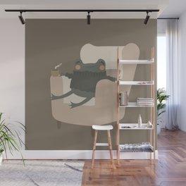 Frog Cozy Evening Tea | Jeni the Frog Wall Mural