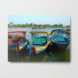 Boats Have Faces Metal Print