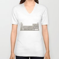 periodic table V-neck T-shirts featuring Periodic table by Florian Pasquier