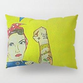 Modern Rosie the Riveter Pillow Sham