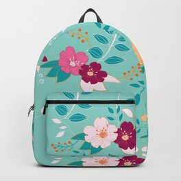 Exotic Flower Pattern Backpack