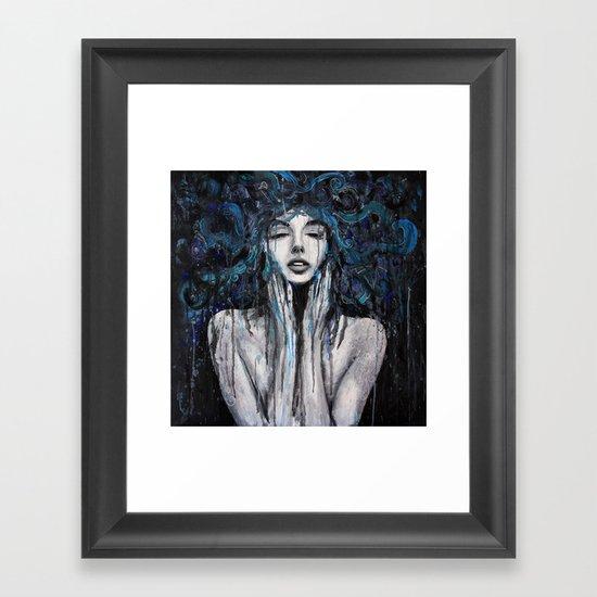 Melting Thoughts. Framed Art Print