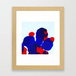 Rorschach No. 2: Blue Feather Weather Framed Art Print