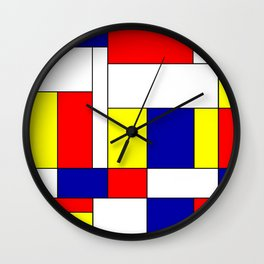 Mondrian #37 Wall Clock