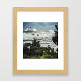 Storm Chasers at the Lighthouse Framed Art Print