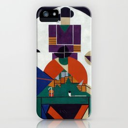 Theo van Doesburg - Card players iPhone Case
