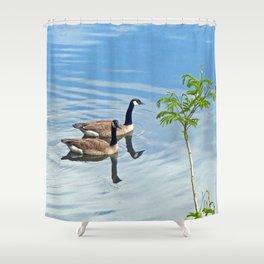 Enjoying a Swim Shower Curtain