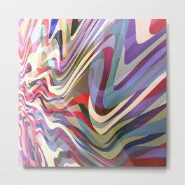 Astract Waves Metal Print