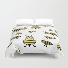Golden Bees Duvet Cover