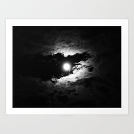 the moon after the storm Art Print