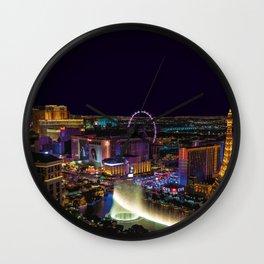 Las Vegas Skyline Artwork Wall Clock