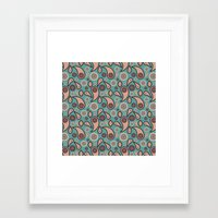 paisley Framed Art Prints featuring Paisley by Lisi Fkz