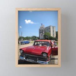 Old Cuban Car  Framed Mini Art Print