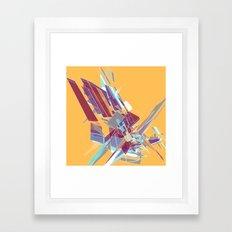 Shattered (Yellow) Framed Art Print