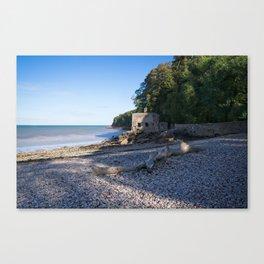 Elberry Cove - Agatha Christie's Favourite Bathing Spot Canvas Print