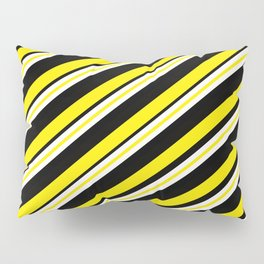 Team colors 1...double yellow,black and white. Pillow Sham