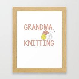 Perfect Knitting Gift For Grandma. Framed Art Print