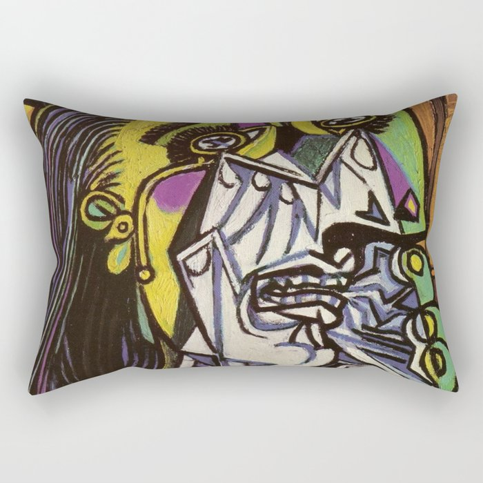 THE WEEPING WOMAN - PICASSO Rectangular Pillow
