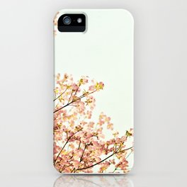 Peach Spring Dogwood Tree Photography, Coral Salmon Mint Aqua Teal Turquoise, Spring Floral Branches iPhone Case
