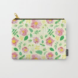 California Rose Pattern Carry-All Pouch