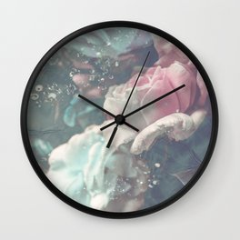 Underwater Roses Wall Clock