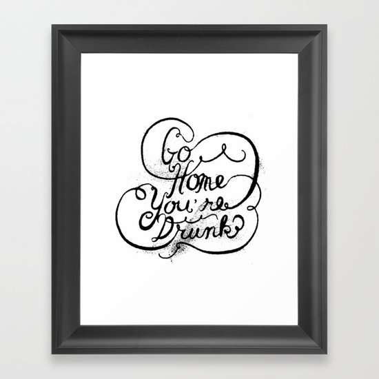 GO HOME Framed Art Print