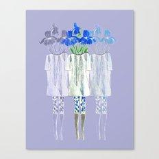 Iris Illustration Canvas Print