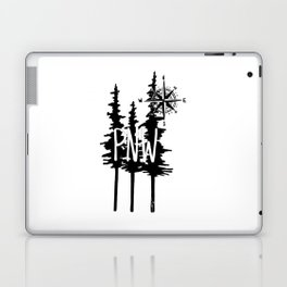 PNW Trees & Compass Laptop & iPad Skin