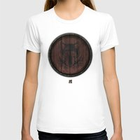 skyrim T-shirts featuring Shield's of Skyrim - Solitude by VineDesign