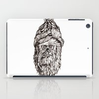 chewbacca iPad Cases featuring Hipster Chewbacca  by LaurenNoakes