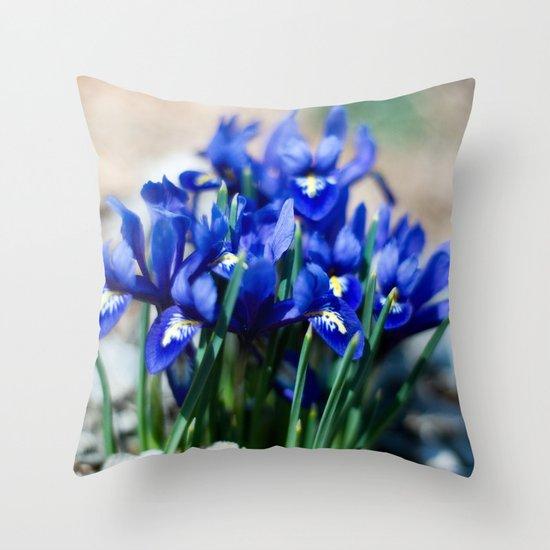 Iris Watercolor Throw Pillow