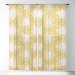 Golden Sun Pattern III Sheer Curtain