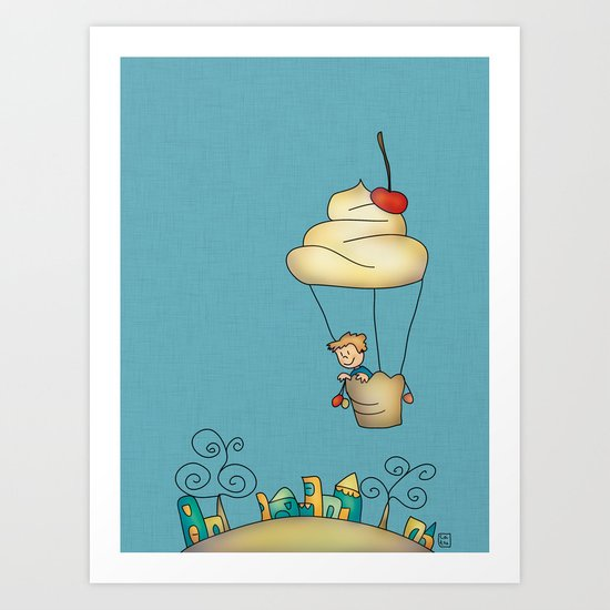 Sweet world Art Print